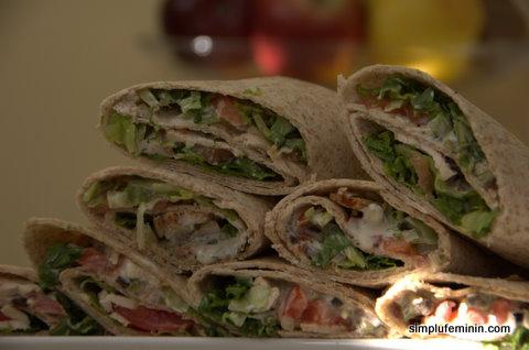 Chicken wraps - tortilla cu pui