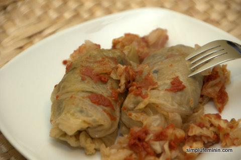 Sarmale vegetariene cu ciuperci si nuca