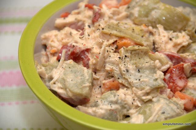 Salata de anghinare (artichoke) cu piept de pui