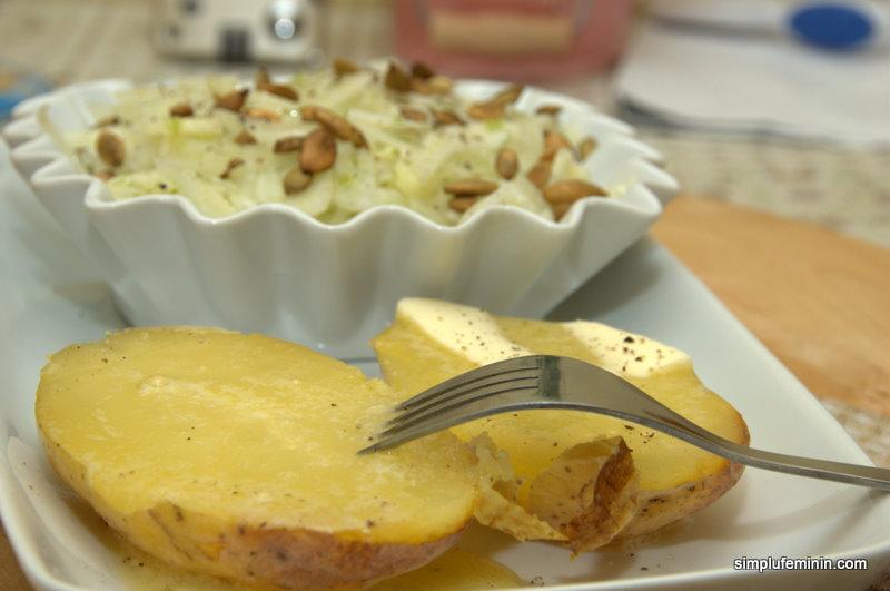 Salata de fenicul (bulb) cu seminte de dovleac